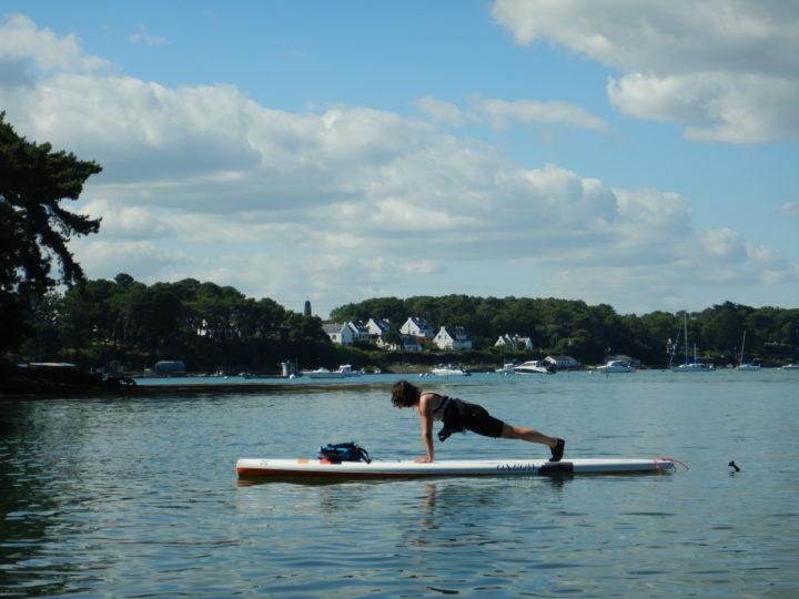 Séances de yoga paddle dès le mois d'Avril